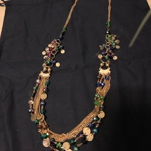 Jewelry - Multilayer Colorful Handmade Necklace .
